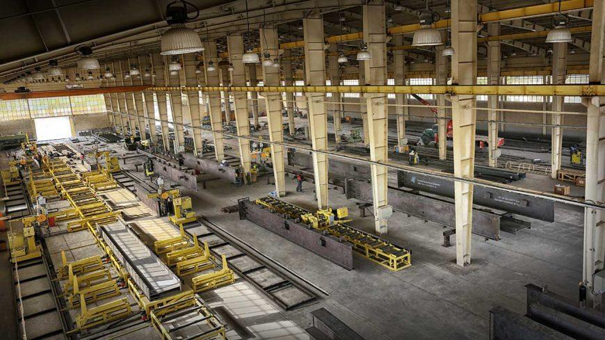 کارخانه اسکلت فلزی